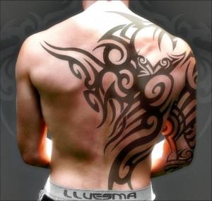 Moari back tattoos