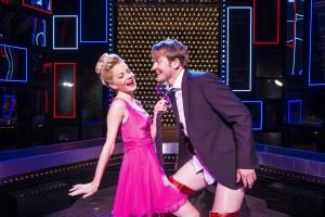 Amy Lennox (Lauren) and Killian Donnelly (Charlie) in Kinky Boots - photo Matt Crocket
