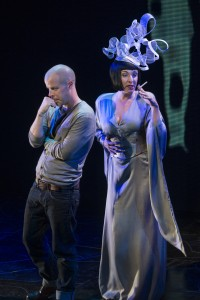 Stephen Wight as Lee and Tracy-Ann Oberman as Isabella Blow in McQueen credit Specular