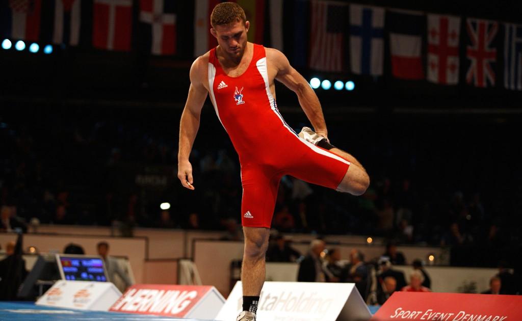 WorldFreestyleWrestling2009Champ74kg Gaidarov Lampis (4)
