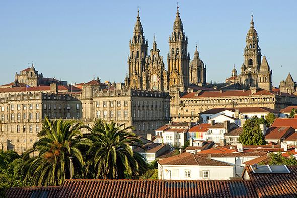 Cathedral of Santiago de Compostela, Camino Frances, Way of St. James, Camino de Santiago, pilgrims way, UNESCO World Heritage S
